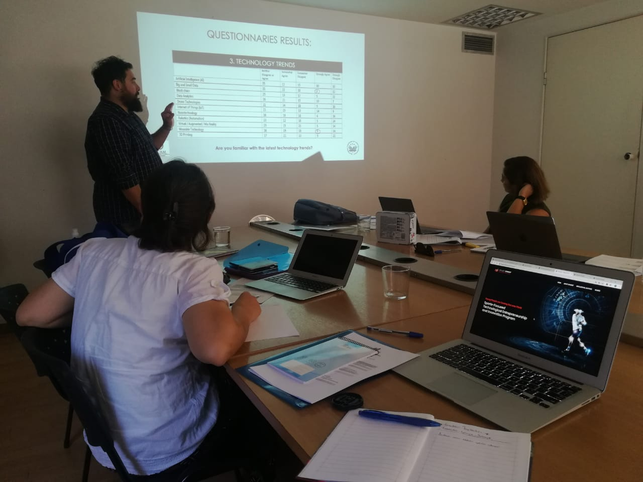 2nd transnational meeting for the program 'SPINENT'