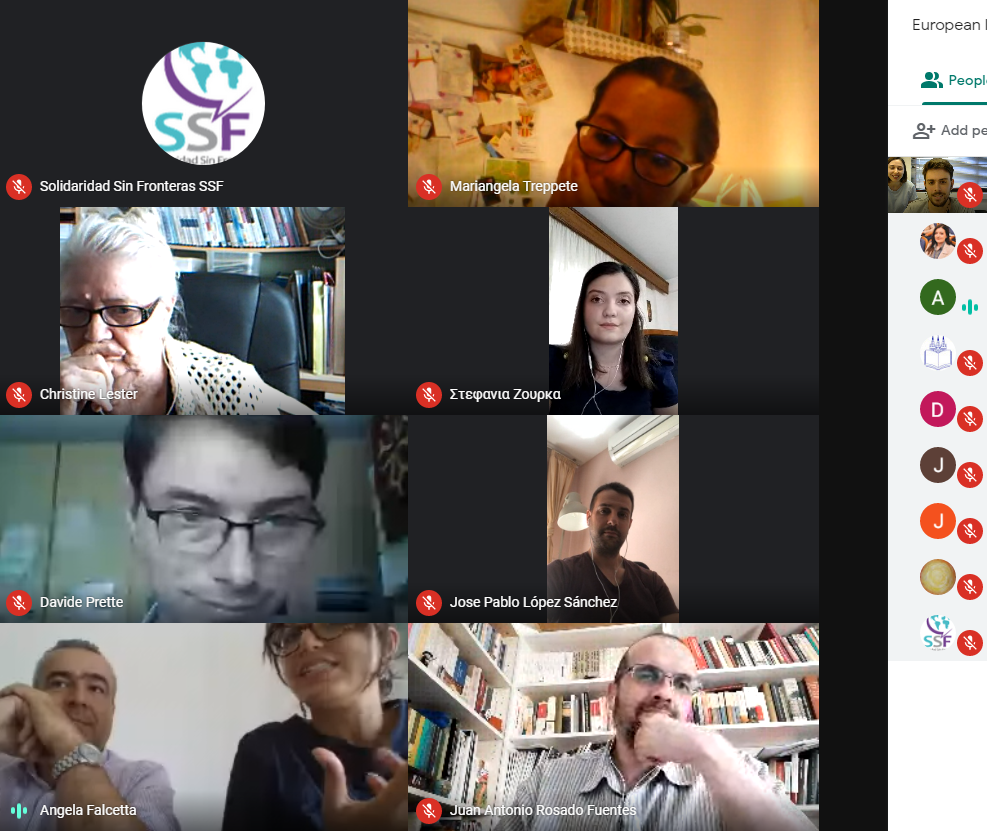 Virtual Meeting about COVID-19 and remote work coordinated by the European Institute for Local Development.